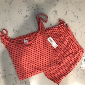 OLD NAVY Jersey Knit Lounge Set PEACH NWT